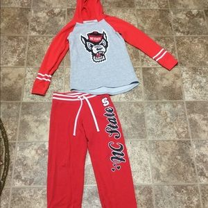 Justice Shirts & Tops - Justice NC State Hooded Sweatshirt and Pant Set